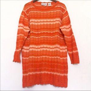 DIANE VON FURSTENBERG Bright Orange Longline Knit